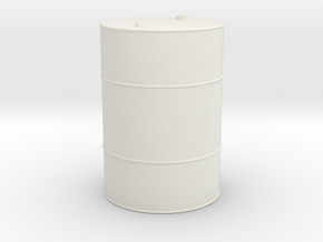 55 Gallon Drum 1/10 scale in White Strong & Flexible