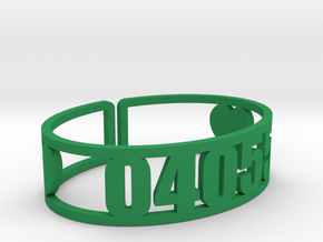 Mataponi Zip Cuff in Green Strong & Flexible Polished