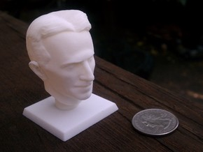 Nikola Tesla Bust in White Strong & Flexible