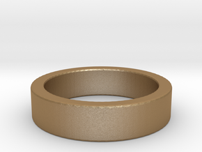 Basic Ring US7 1/4 in Matte Gold Steel