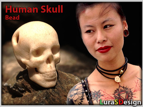 Human Skull Pendant - Skull Bead in White Strong & Flexible