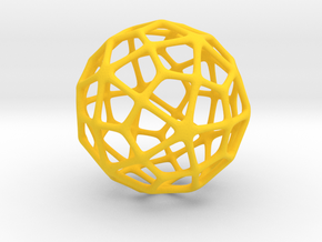 Deltoidal Hexecontahedron in Yellow Strong & Flexible Polished
