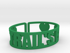Trail's End Cuff in Green Strong & Flexible Polished