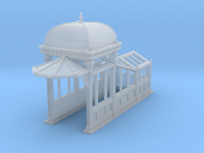 HO Scale (1:87.1) Subway Kiosk Entrance in Frosted Ultra Detail