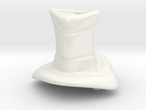CANDLE HOLDER in Gloss White Porcelain