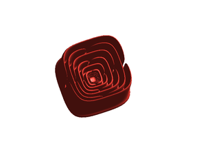Math Rose - small in Red Strong & Flexible Polished