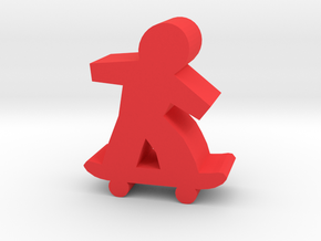 Game Piece, Skateboarder in Red Strong & Flexible Polished