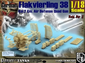 1-18 Flakvierling 38 in White Strong & Flexible