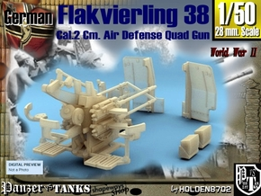 1-50 Flakvierling 38 For A-Wagen in Frosted Ultra Detail
