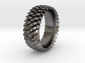 Scale Ring 2016 Size 11 in Polished Nickel Steel