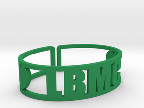 LBMC Cuff in Green Strong & Flexible Polished