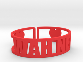 Wah Nee Cuff in Red Strong & Flexible Polished