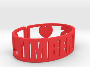 Timber Tops Cuff in Red Strong & Flexible Polished