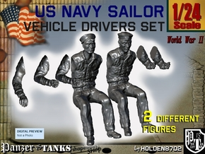 1-24 USN Sailor Driver Set1 in White Strong & Flexible