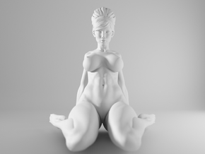 1/10 Sexy Girl Sitting 006 in White Strong & Flexible