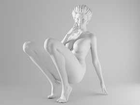 1/10 Sexy Girl Sitting 019 in White Strong & Flexible