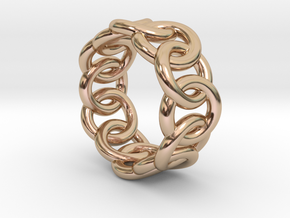 Chain Ring 14 – Italian Size 14 in 14k Rose Gold Plated