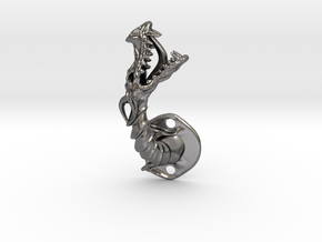 Dragon Cabinet Handle - Facing right in Polished Nickel Steel