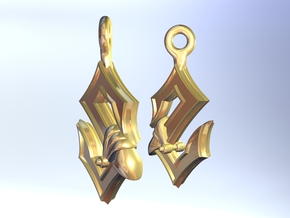 Sabaton Earrings in Polished Gold Steel