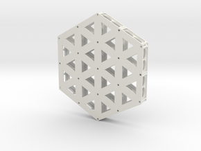 Isogrid Extruded Flanges  in White Strong & Flexible