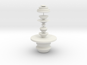 Table And Sculpture in White Strong & Flexible