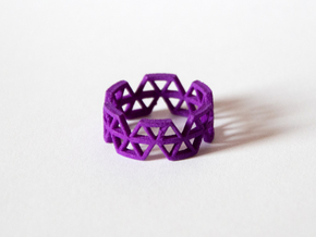 Triangle Jungle Ring in Purple Strong & Flexible Polished