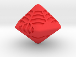 Stripes D12 (hexagonal bipyramid version) in Red Strong & Flexible Polished