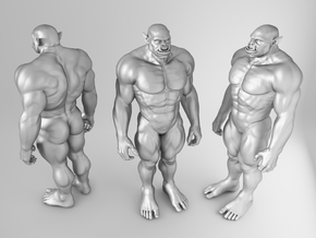 Orc Warrior Scale in 1/10 18CM in White Strong & Flexible