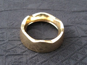 Ag Torch: Brass Bezel Ring (3 of 4) in 14k Gold Plated