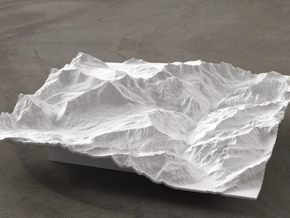 6''/15cm Oberland Peaks, Switzerland in White Strong & Flexible