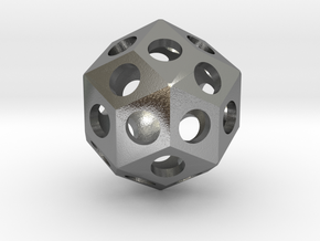 Rhombic Triacontahedron in Raw Silver