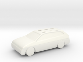 Game Of Life Car Wedding Cake Topper (scaled 85%) in Gloss White Porcelain