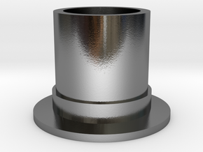 Top Hat Espresso Cup in Polished Silver
