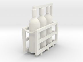 Welding & Gas High Pressure Cylinders In Rack 1-45 in White Strong & Flexible