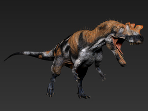 Ceratosaurus middle size in White Strong & Flexible