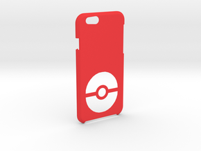 Iphone 6S/6 Pokeball Case in Red Strong & Flexible Polished