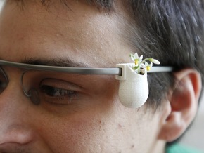 GlassKap Wearable Planter in White Strong & Flexible