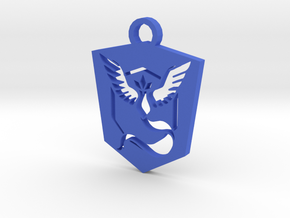 Team Mystic Keychain - Pokemon GO in Blue Strong & Flexible Polished