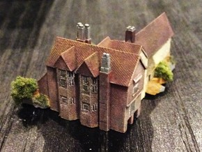 1:700 Scale Moat Hall, Parham, Suffolk in Frosted Ultra Detail