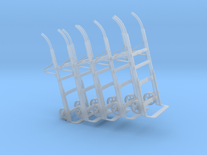1:32 Two Wheel Dolly Set of 5 in Frosted Ultra Detail