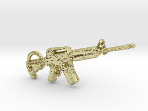 cool m4 carbine gun keyring in 18k Gold