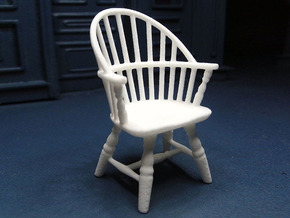 1:24 Sack Back Windsor Chair in White Strong & Flexible