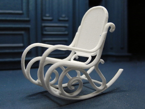 1:24 Bentwood Rocking Chair in White Strong & Flexible