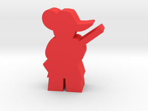 Game Piece, Musketeer with musket in Red Strong & Flexible Polished