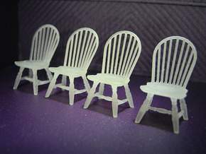 1:48 Hoop Back Windsor Chairs in Frosted Ultra Detail