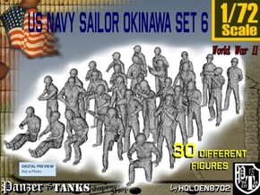1/72 US Navy Okinawa Set 6 in Frosted Ultra Detail