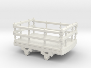 009 Dinorwic wooden slate wagon in White Strong & Flexible