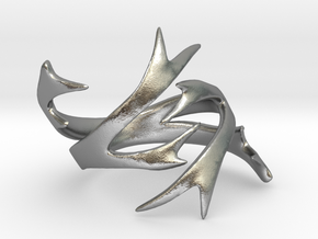 Antler Ring Size 8 in Raw Silver