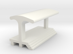 Straight Platform - With Shelter in White Strong & Flexible