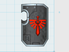 10x Angel Legion - Marine Boarding Shields w/Hand in Frosted Ultra Detail